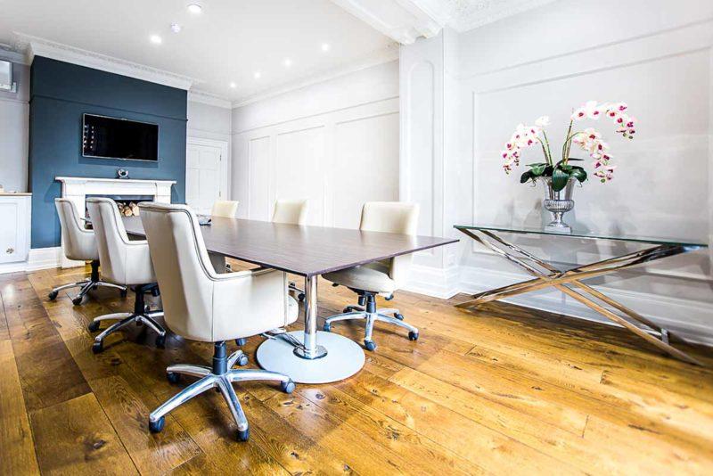 Our UK boardroom, Hertfordshire, UK.